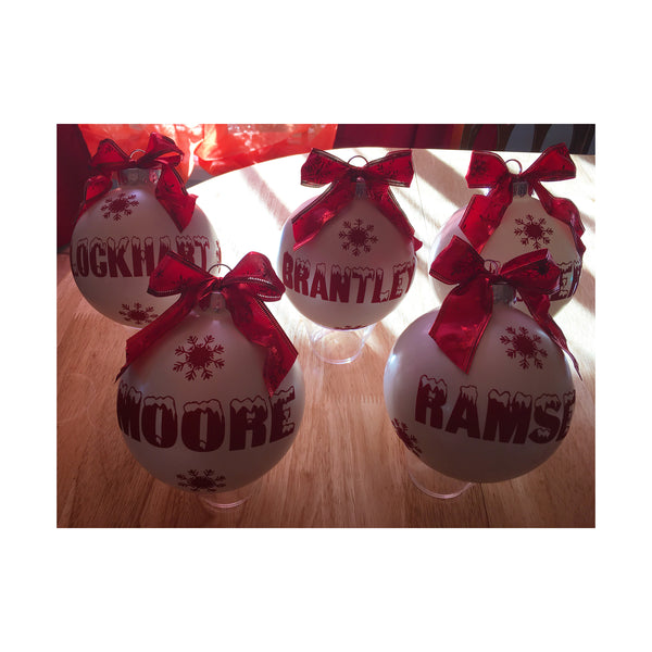 "Five Custom 5"" Hand Decorated Ornaments - A. Burkhead-Christmas Ornament-TD Gift Solutions.com"