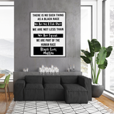 Black Lives Matter | We Are Not A Sub-race 18 x 24 Poster-Posters-TD Gift Solutions.com
