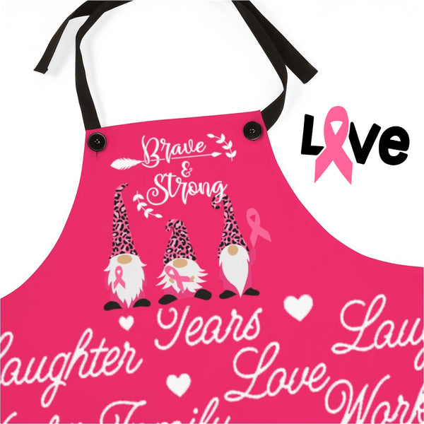 Aprons For Women | Breast Cancer Awareness Gnome Apron-Accessories-TD Gift Solutions.com
