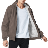 Hoodie Weather | Brown Hooded Unisex Sherpa Lined Jacket-AOP Sherpa Hoodie-TD Gift Solutions.com