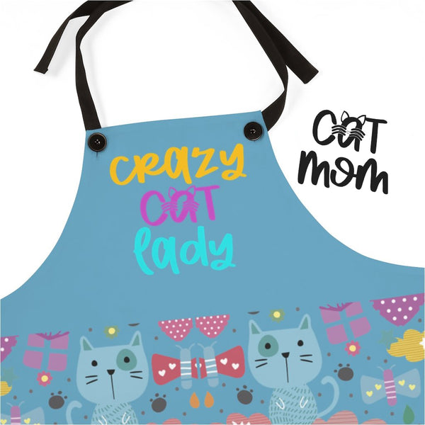 Aprons For Women | Crazy Cat Lady Apron-Aprons-TD Gift Solutions.com