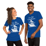 Cruise Addict | Couples Cruise Captain & First Mate Royal Blue Unisex T-Shirt - T-Shirts