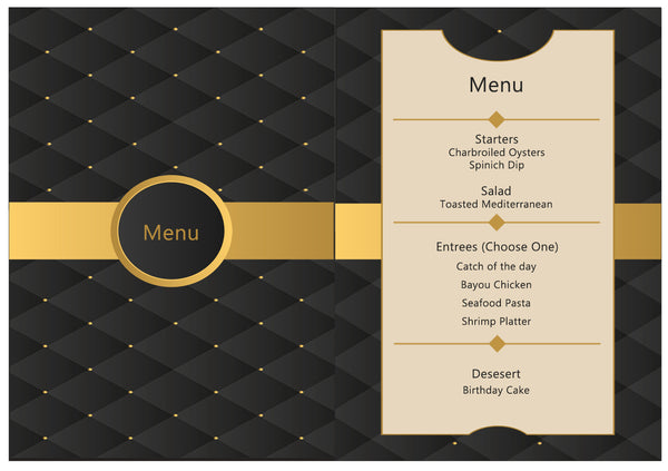 Demetrice Custom Invites and Menu Cards - TD Gift Solutions.com