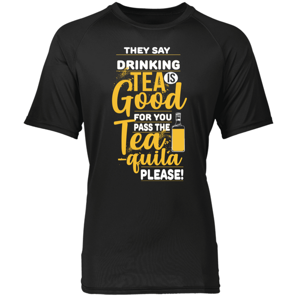 Funny Shirts | Drink More Tea-quila Raglan Sleeve Wicking Shirt - T-Shirts