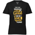 Funny Shirts | Drink More Tea-quila Ladies' Raglan Sleeve Wicking T-Shirt-T-Shirts-TD Gift Solutions.com