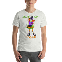 Witch T Shirt | Nurse Stick or Treat Short-Sleeve Unisex T-Shirt-TD Gift Solutions.com