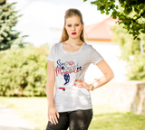 Gifts For Her | Star Spangled Mermaid T-Shirt | Mermaid Tail - T-shirt