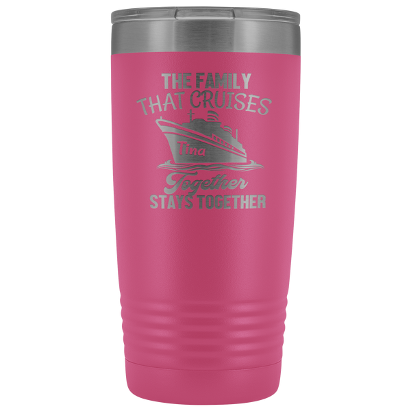 Cruise Life | Personalized The Family That Cruises Together 20 oz Tumbler-Tumblers-TD Gift Solutions.com