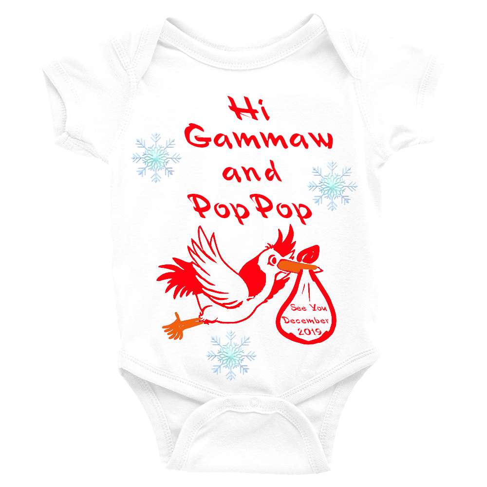 Christmas Baby Announcement Onesie | Baby Announcement Ideas | Baby Announcement Gifts - TD Gift Solutions.com