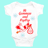 Christmas Baby Announcement Onesie | Baby Announcement Ideas | Baby Announcement Gifts - Baby Announcement Onesies