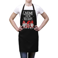 Black Aprons | I'll Be Gnome For The Holidays Christmas Apron-Aprons-TD Gift Solutions.com
