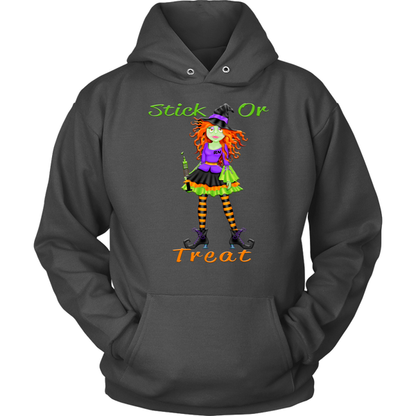 Witch Shirt | Nurse Stick or Treat Hoodie-T-shirt-TD Gift Solutions.com