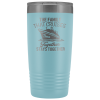 Cruise Life | Personalized The Family That Cruises Together 20 oz Tumbler - Tumblers