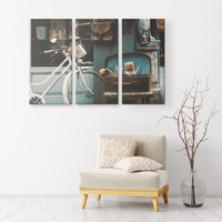 36x24 Vintage Bicycle Three Piece Wall Art | Mom Gifts-Canvas Wall Art Set 3-TD Gift Solutions.com
