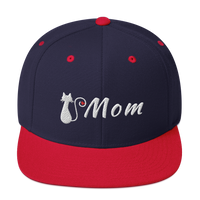 Accessories | Cat Mom Snapback Hat-Caps-TD Gift Solutions.com