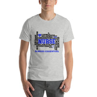 Healthcare Worker | Nurse Always Essential T-Shirt With Blue Accents-Apparel-TD Gift Solutions.com