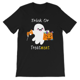 Respiratory Therapy Gifts | RT Trick or Treatment Short-Sleeve Unisex T-Shirt-TD Gift Solutions.com