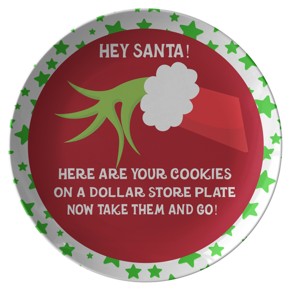Cookies For Santa Plate | Ba Hum Bug | Grinchmas Lover Santa Cookie Plate - Dinnerware