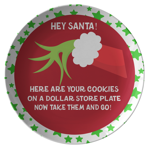 Cookies For Santa Plate | Ba Hum Bug | Grinchmas Lover Santa Cookie Plate - TD Gift Solutions.com