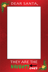 Santa's Naughty List | Dear Santa, They are the naughty ones! Downloadable Photo Prop Frame - Photo Booth Frame