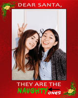 Dear Santa, They are the naughty ones! | Santa's Naughty List Photo Prop Frame | Santa Claus-Posters-TD Gift Solutions.com