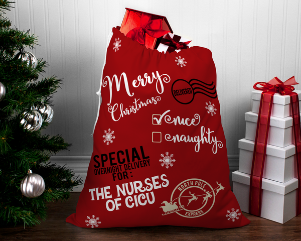 Santa Sack | Santa Gift Bag | Cloth Gift Bag-Santa Sack Christmas Bag-TD Gift Solutions.com