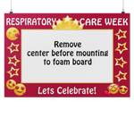 New Respiratory Therapist | Let's Celebrate Respiratory Care Week Photo Prop Frame-Photo Booth Frame-TD Gift Solutions.com