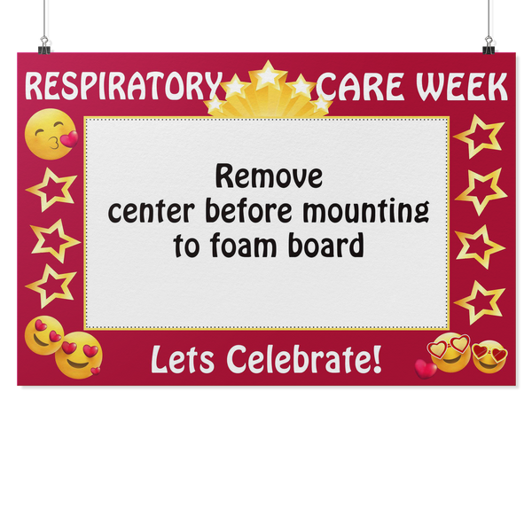 New Respiratory Therapist | Let's Celebrate Respiratory Care Week Photo Prop Frame - Photo Booth Frame
