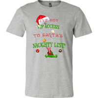 Santa's Naughty List VIP T-shirt | Santa Claus | Christmas Outfit - T-shirt