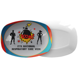 Respiratory Therapy Super Hero Serving Platter | National Respiratory Care Week | Serving Platter - Dinnerware