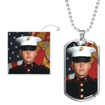 Women's Jewelry | Photo Dog Tag Necklace-Jewelry-TD Gift Solutions.com