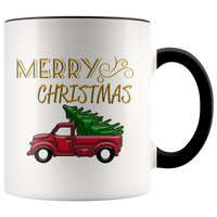 Cute Mugs | Merry Christmas Accent Mug-Drinkware-TD Gift Solutions.com