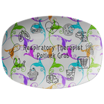 Flower Patterned Serving Platter | Respiratory Therapy Serving Platter | Respiratory Therapy Potluck Grub - Dinnerware