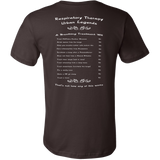 Respiratory Therapy Urban Legends | Canvas Mens Shirt | RT Swag - T-shirt