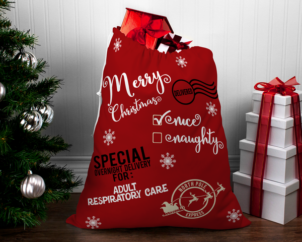 Santa Sack | Santa Gift Bag | Cloth Gift Bag - Santa Sack Christmas Bag