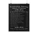 Respiratory Therapy Urban Legends Poster - TD Gift Solutions.com