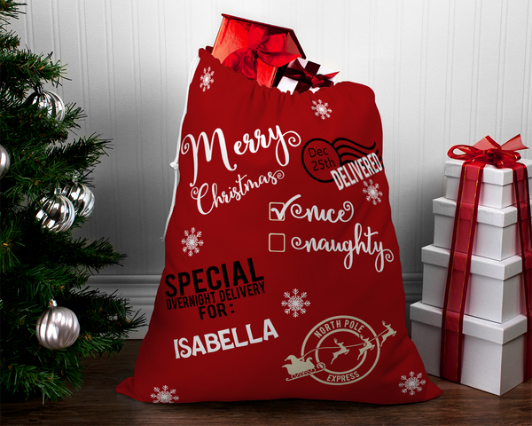 Santa Sack Iron On Decals | Santa Sack DIY | Santa Sack Christmas Gift Bag - TD Gift Solutions.com