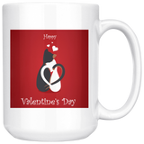 Cat Mug | 11 oz Happy Valentines Day Cat Mug-Drinkware-TD Gift Solutions.com