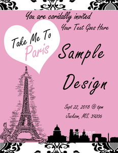 Shavon Custom Order - Take Me To Paris Chip Bags N Invites - TD Gift Solutions.com