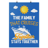 Family Cruise | The Family That Cruises Together Cruise Door Decorations-Posters-TD Gift Solutions.com