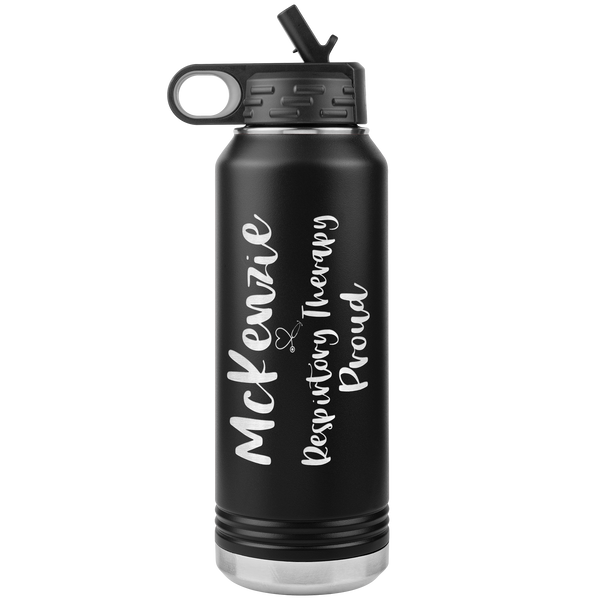 Respiratory Care Week Gifts | Personalized 32 oz Respiratory Therapy Proud Water Bottle-Tumblers-TD Gift Solutions.com
