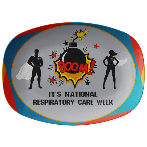Respiratory Therapy Super Hero Serving Platter | National Respiratory Care Week | Serving Platter - TD Gift Solutions.com
