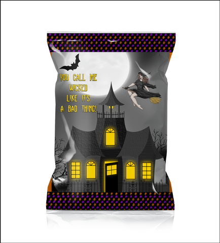 You Call Me Wicked Like It's A Bad Thing Chip Favor Bags (front)