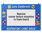 Respiratory Therapy Life | Respiratory Care Week Blue Emoji Theme Photo Prop-Photo Booth Frame-TD Gift Solutions.com