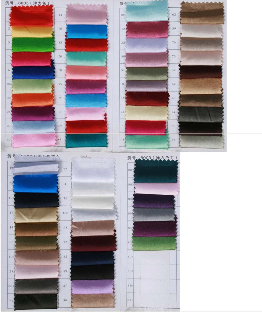 Elastic satin color swatches|www.simidress.com|wedding dresses|party dresses|homecoming dresses