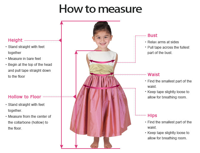 How to measure flower girl dresses | www.simidress.com