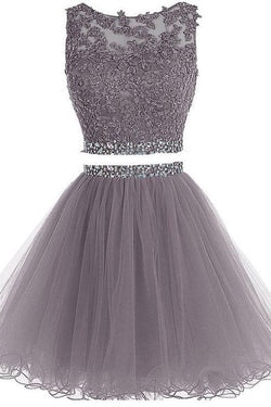 Two piece homecoming dresses, Fashion Short Prom Dresses for Girls,SH74