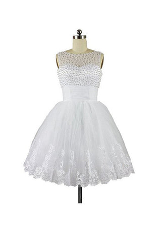 High Quality Charming Short Homecoming Dresses, White Short Prom Dresses