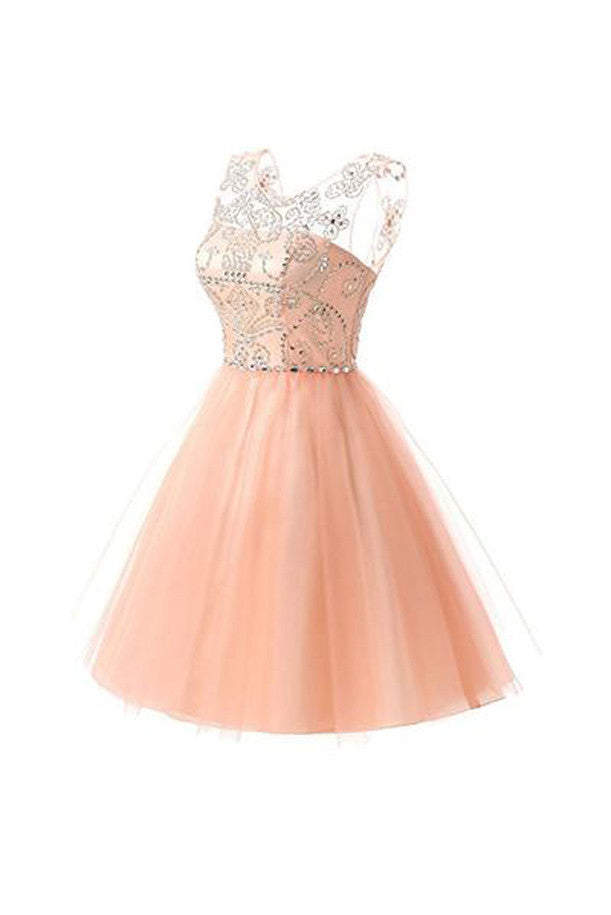 Short Lace Tulle Homecoming Dresses, Short Prom Dresses, Party Dresses,SHD60