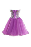 Purple Sweetheart Homecoming Dresses, Short Cocktail Dress Prom Dresses,SH67